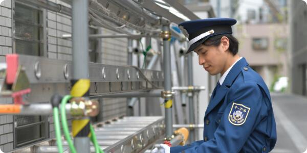 充実のサポート体制の中、暮らしの安心・安全を守る仕事